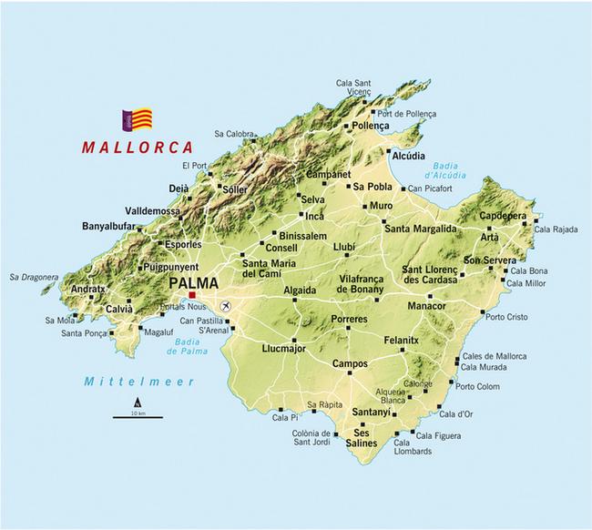 Insel Menorca Karte.Landkarte Mallorca Mallorca Karte Die Insel Im Uberblick